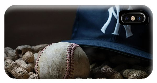 Yankee Cap Baseball And Peanuts IPhone Case