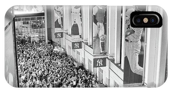 Yankee Stadium Great Hall 2009 World Series Black And White IPhone Case