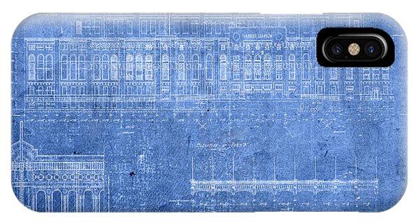 Yankee Stadium New York City Blueprints IPhone Case