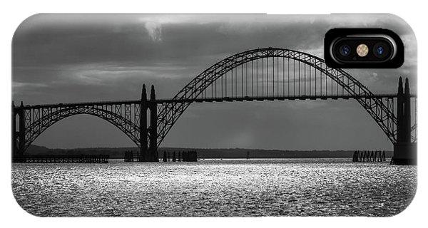Yaquina Bay Bridge Black And White IPhone Case