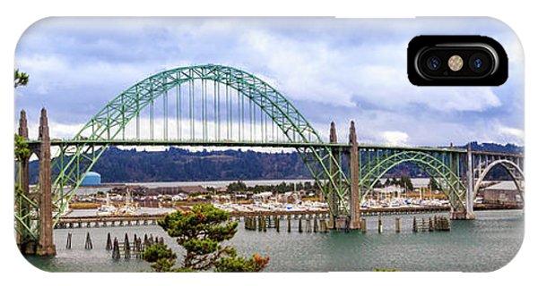 Yaquina Bay Bridge Panorama IPhone Case