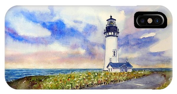 Yaquina Head Lighthouse - Springtime IPhone Case