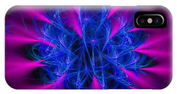 Beam iPhone Case - Yarn In Space - Fractal Art Blue And Pink by Matthias Hauser