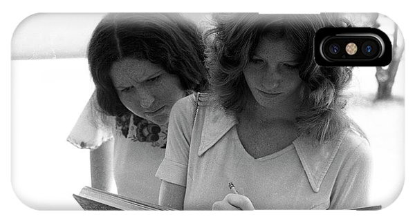 Yearbook Signing, 1972, Part 1 IPhone Case