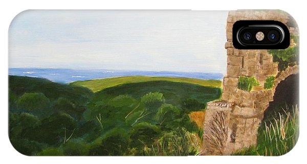 IPhone Case featuring the painting Yehiam Fortress by Linda Feinberg