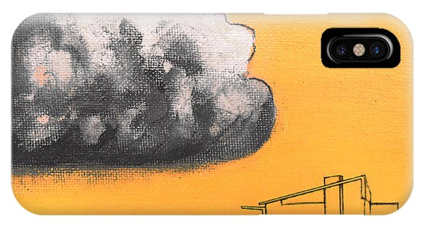 Yellow Alex Dark Cloud IPhone Case