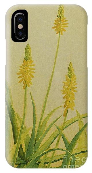 Yellow Aloe IPhone Case