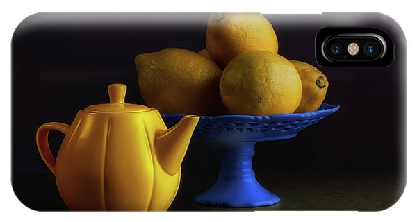 Kettles iPhone Case - Yellow And Blue Still Life by Tom Mc Nemar