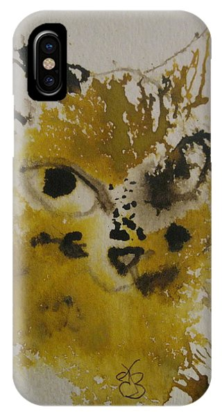 Yellow And Brown Cat IPhone Case