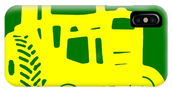 New England Barn iPhone Case - Yellow And Green Emblem Design by Edward Fielding