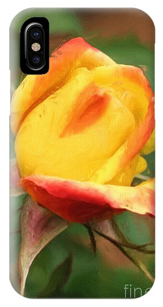 Yellow And Orange Rosebud IPhone Case