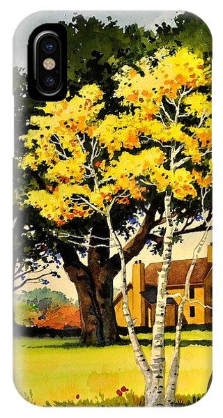 Yellow Birches IPhone Case