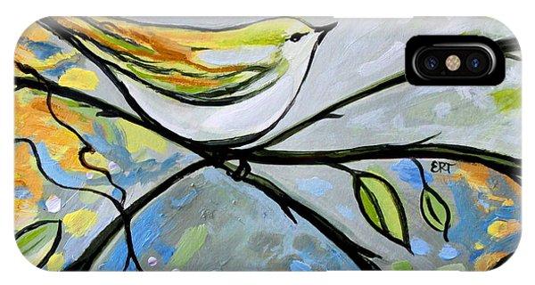 Yellow Bird Among Sage Twigs IPhone Case