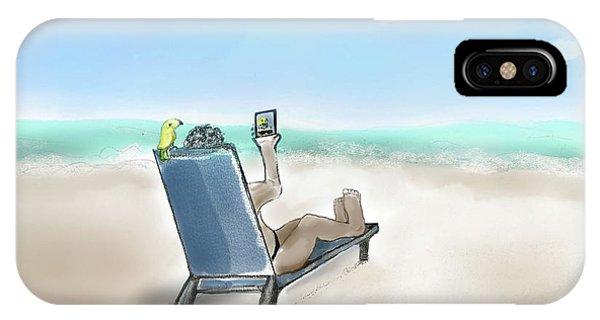 Yellow Bird Beach Selfie IPhone Case