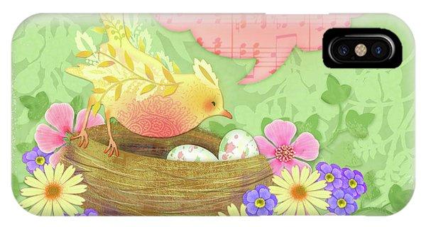 Yellow Bird's Love Song IPhone Case