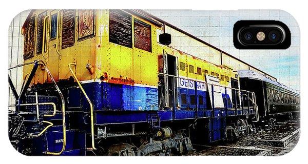 Yellow/blue Birmingham IPhone Case