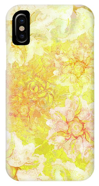 Yellow Camellia Hedges IPhone Case