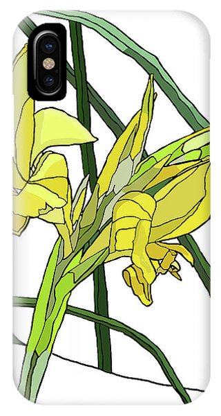 Yellow Canna Lilies IPhone Case