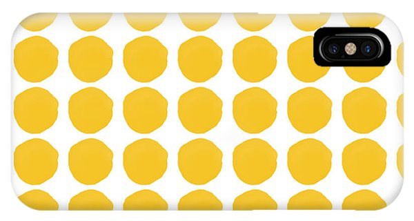 Mustard iPhone Case - Yellow Circles- Art By Linda Woods by Linda Woods