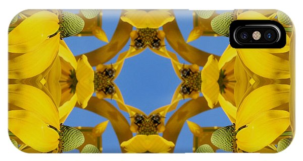 Yellow Coneflower Kaleidoscope IPhone Case