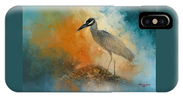 Tidal Marsh iPhone Case - Yellow Crown by Marvin Spates