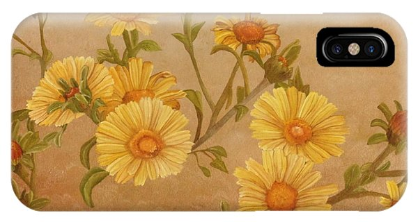 IPhone Case featuring the painting Yellow Daisies by Angeles M Pomata