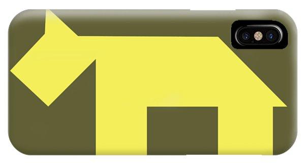 Swanky iPhone Case - Yellow Dog Tangram by Roman Pshenitsyn
