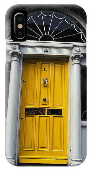 Yellow Door In Dublin Phone Case by Carl Purcell