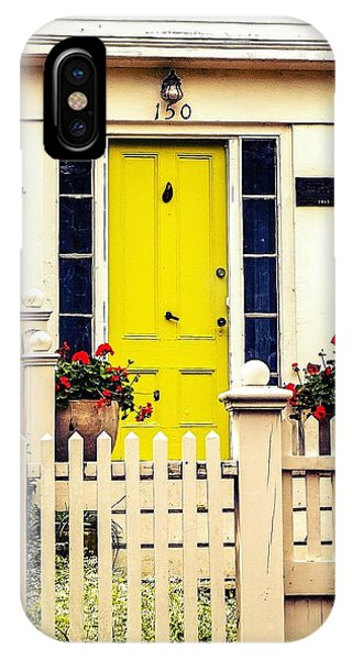 IPhone Case featuring the photograph Yellow Door by Kendall McKernon