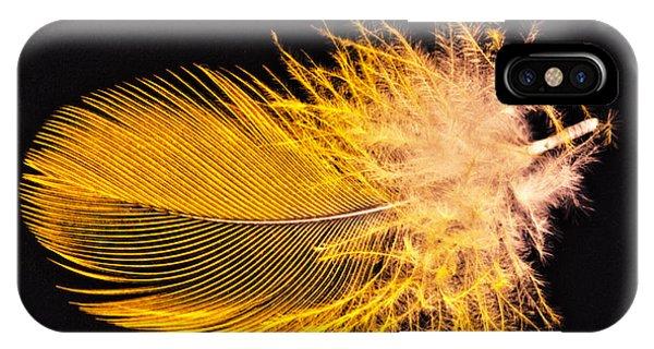 Yellow Feather Macro IPhone Case