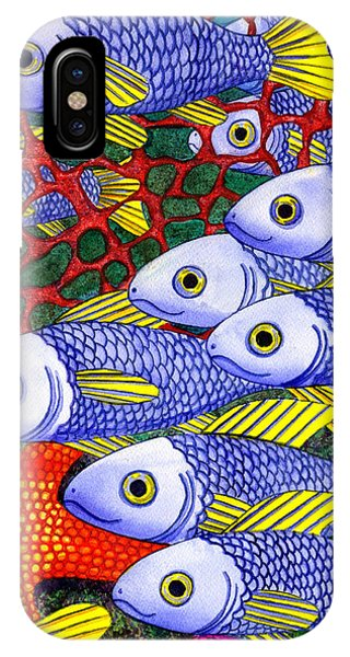 Fins iPhone Case - Yellow Fins by Catherine G McElroy