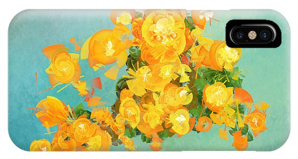 Yellow Fire Spring IPhone Case