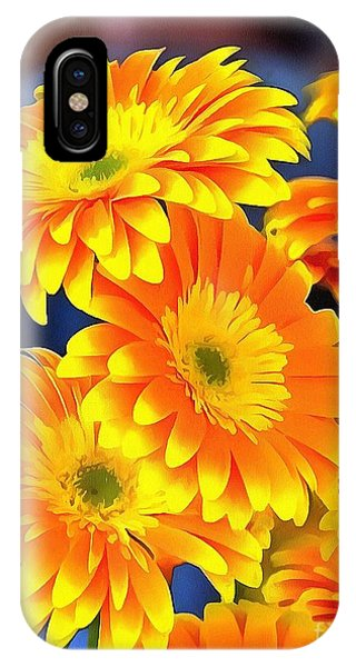 Yellow Flowers In Thick Paint IPhone Case