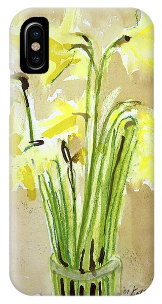 Yellow Flowers In Vase IPhone Case