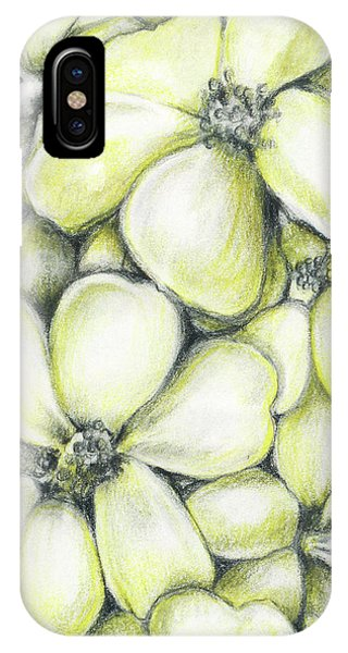 Yellow Flowers Pencil IPhone Case