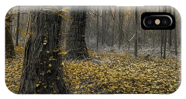 Distant iPhone Case - Yellow Forest by Carlos Caetano