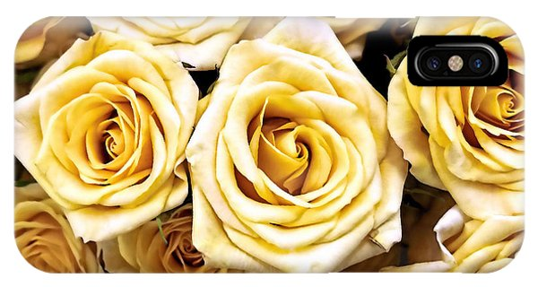 Yellow Friendship Roses  IPhone Case