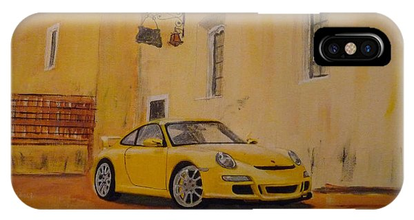 Yellow Gt3 Porsche IPhone Case