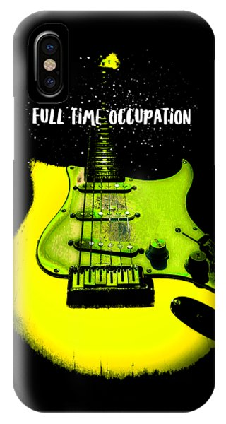 Yellow Guitar Full Time Occupation IPhone Case
