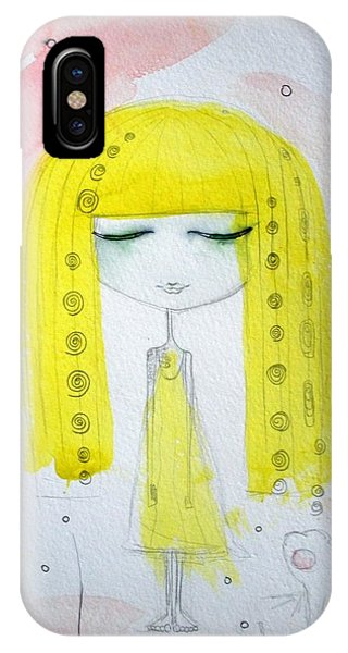 Yellow Hair Girl  IPhone Case