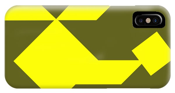Swanky iPhone Case - Yellow Helicopter Tangram by Roman Pshenitsyn