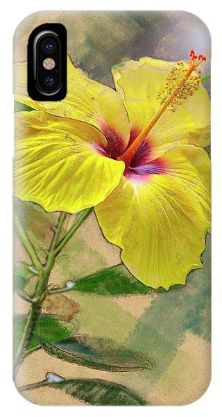Yellow Hibiscus IPhone Case