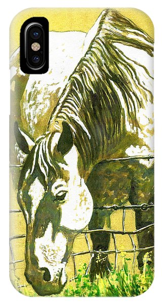 Yellow Horse IPhone Case