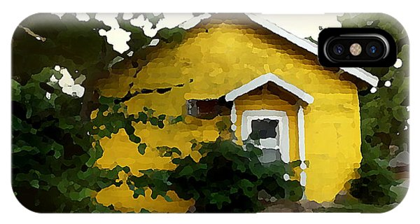 Yellow House In Shantytown  IPhone Case