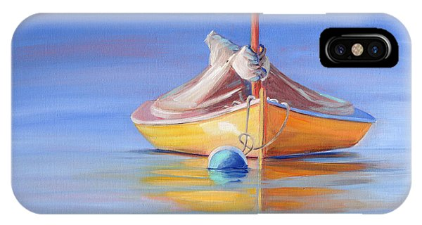 Yellow Hull Sailboat Iv IPhone Case