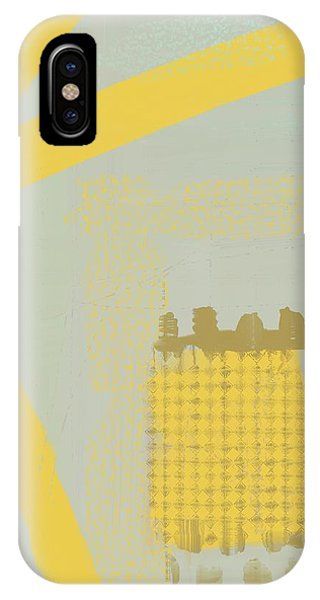 IPhone Case featuring the mixed media Yellow Kay by Eduardo Tavares