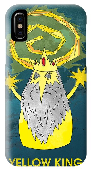 Yellow King True Detective Adventure Time IPhone Case