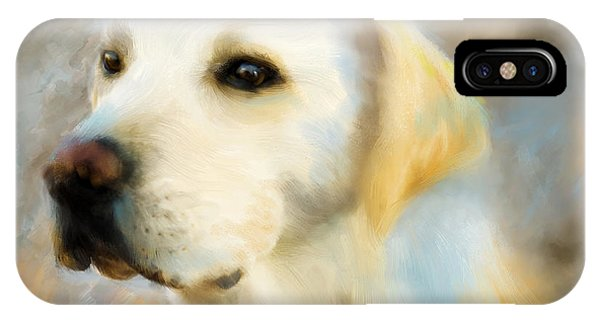 Yellow Lab Portrait IPhone Case