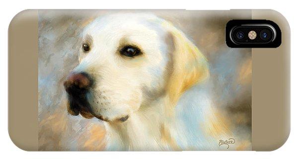 Yellow Lab Portrait IPhone Case