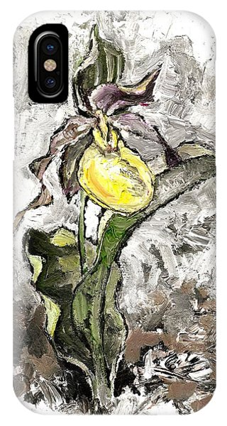 Yellow Lady's Slipper IPhone Case